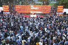 五輪開催で揺れる盆踊り大会